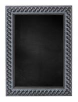 Kreidetafeln mit Geflochten Holz Rahmen - Alt Schwarz
