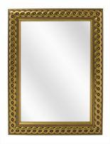 Geflochten Holz Spiegel - Gold