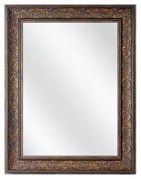 Spiegel mit Barock Rahmen - Alte Bronze
